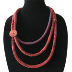 Quilted corded necklace