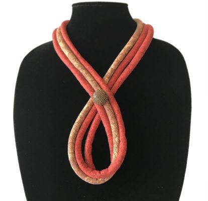 Quilted neck collar by Karen Little