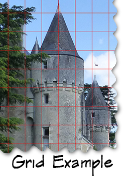 Example of using a grid app over a photo