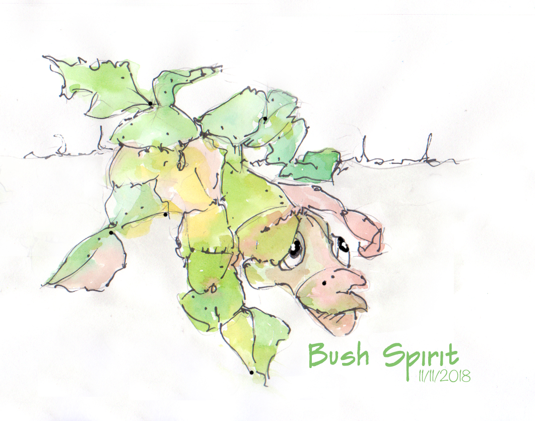 A bush spirit by Karen Little 2018