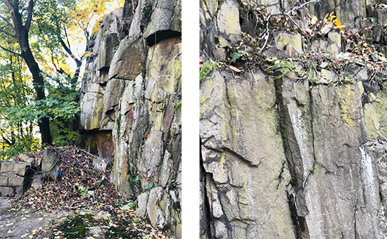 Hudson River Palisades cliffs, photos by Karen Little